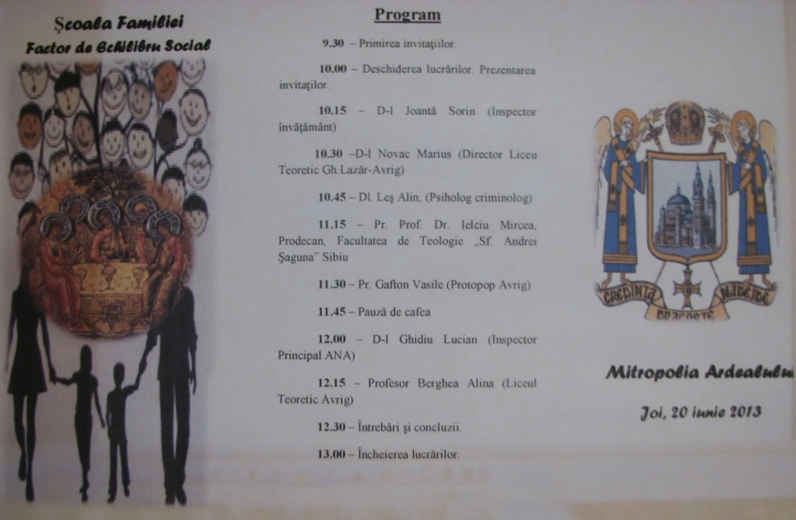 program COLOCVIU FAMILIE, SB, 2013