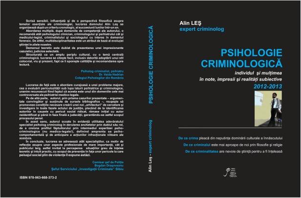 PSIHOLOGIE CRIMINOLOGICA, 2014
