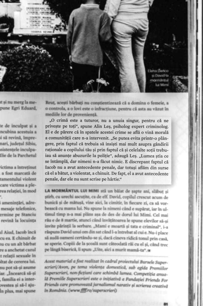 Alin Les, psiholog expert criminolog, interviu 2014, Esquire