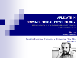 ALIN LES - scoala de vara psychological profiler mamaia 2014