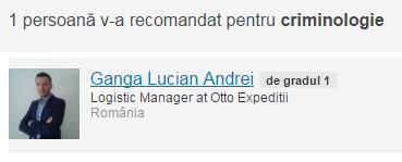 Recomandare expert criminolog Alin Les, criminologie, Societatea Romana de Criminologie si Criminalistica, Filiala Sibiu, Presedinte