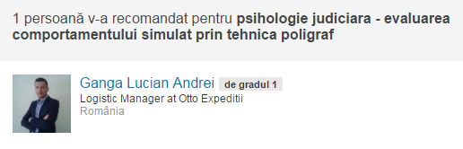 Recomandare psiholog Alin Les, poligraf, Laborator Testari Poligraf Sibiu