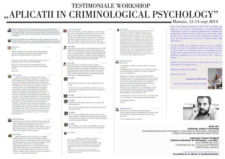 Alin Les, psiholog, expert criminolog, Cabinet Individual Psihologie si Laborator Testari Poligraf Sibiu, www.poligraf-evaluarepsihologica.ro