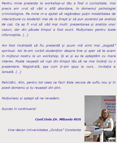 Mihaela Rus, psihocrim.wordress.com, Alin Les, psiholog, expert criminolog
