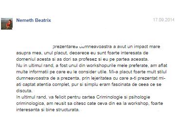 Nemeth Beatrix, psihocrim.wordress.com, Alin Les, psiholog, expert criminolog