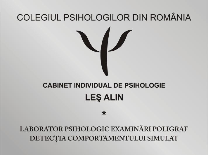 Laborator Poligraf Sibiu, Alin Les, psihologie, www.poligraf-evaluarepsihologica.ro