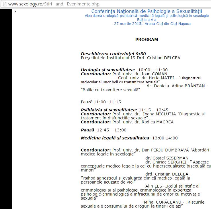 Alin Les - Conferinta Nationala de Psihologia Sexualitatii, Cluj Napoca 2015