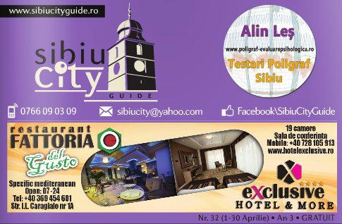Sibiu City Guide aprilie 2015 - Alin Les, Laborator Poligraf Sibiu