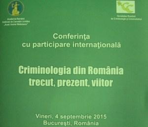 Alin Les - Societatea Romana de Criminologie si Criminalistica, Bucuresti, sept. 2015
