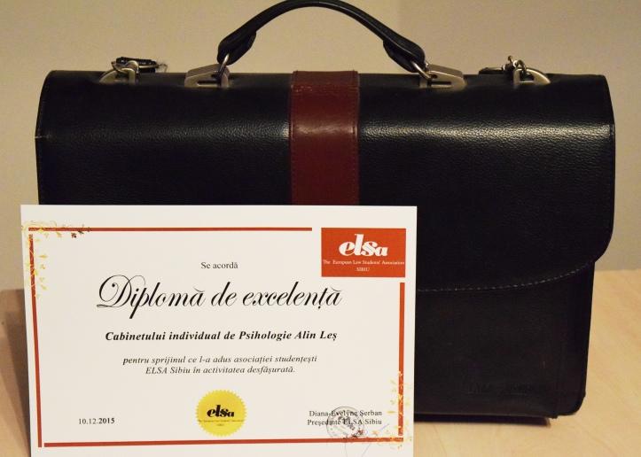 Diploma de excelenta, ELSA Sibiu 2015, Gala